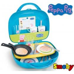 SMOBY Świnka Peppa Mini kuchnia w walizce